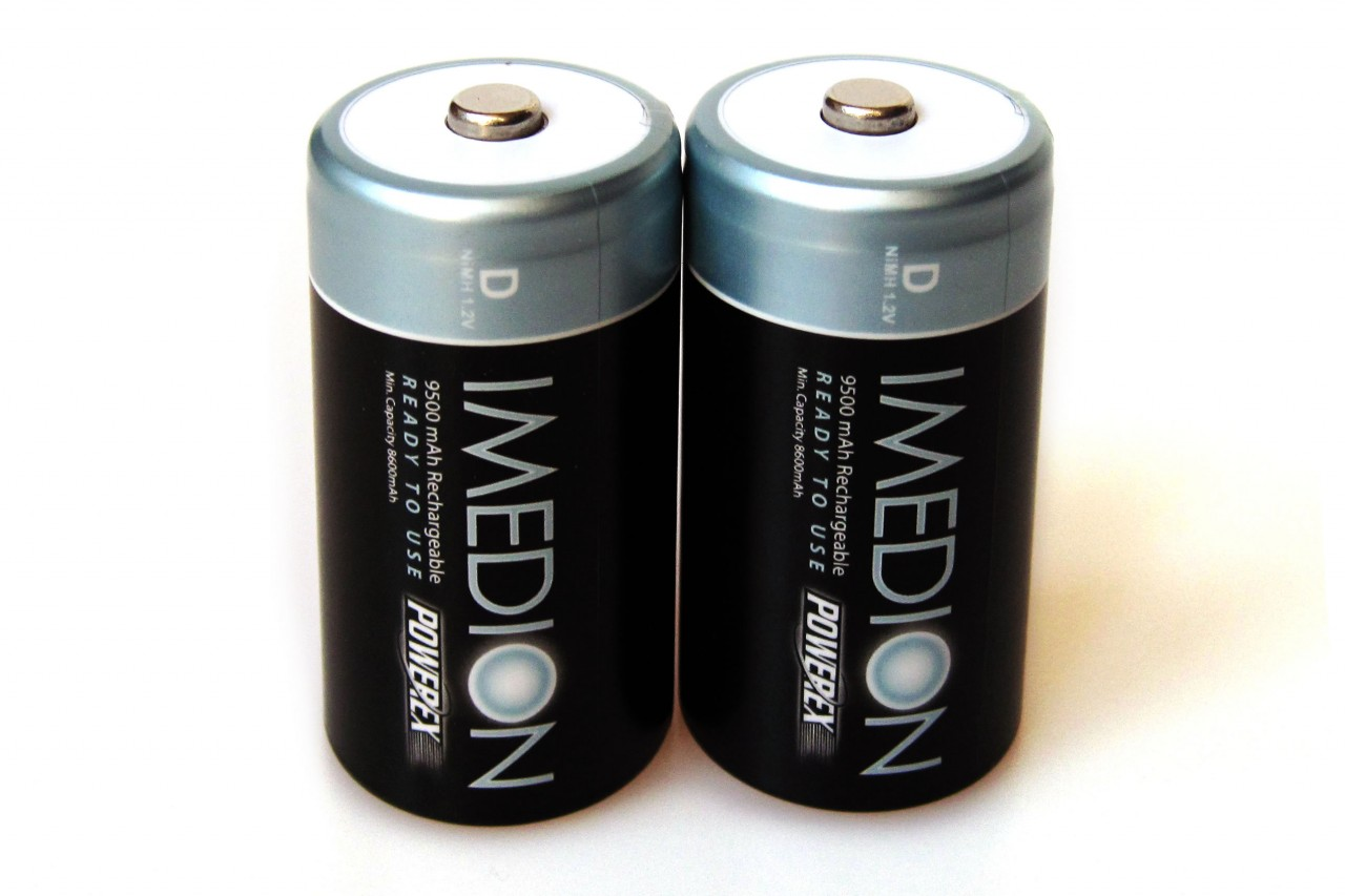 PowerEx IMEDION Rechargeable D Batteries - 9500mAh  Ultra Low Self-Discharge (2-Pack)