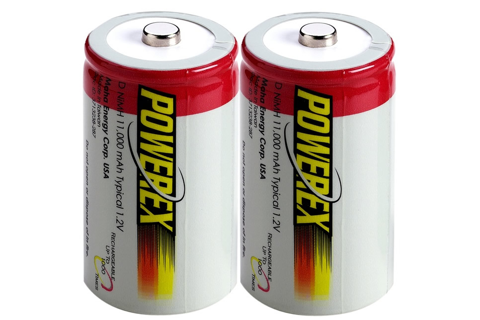 PowerEx Rechargeable D Batteries - NiMH 11000mAh