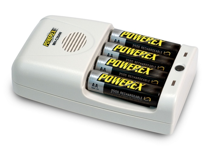 Maha PowerEx MH-C204W 1-Hour Conditioning AA/AAA Battery Charger  None  European Powercord