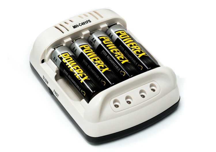 Maha PowerEx MH-C401FS Smart Pulse AA/AAA Battery Charger W/ Car Adapter  Add 4-pack PowerEx 2700mAh   None
