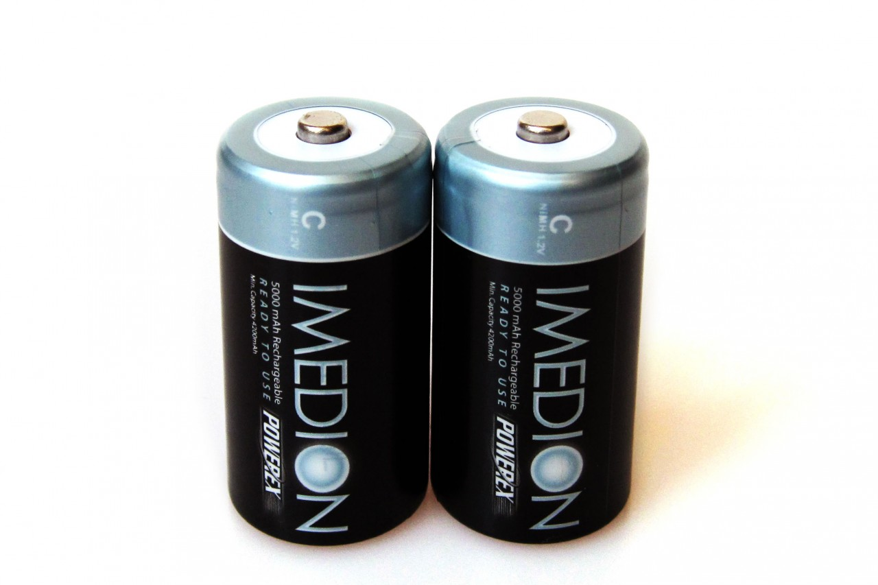 PowerEx IMEDION Rechargeable C Batteries - 5000mAh  Ultra Low Self-Discharge (2-Pack)