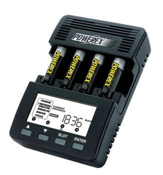 Maha PowerEx MH-C9000 WizardOne AA/AAA Battery Charger and Analyzer  None  UK Powercord