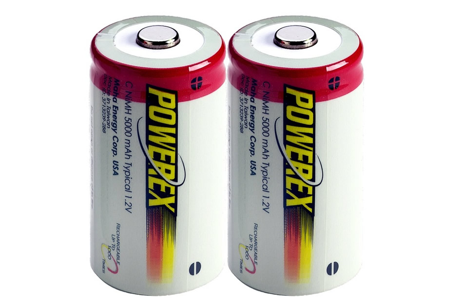 PowerEx Rechargeable C Batteries - NiMH 5000mAh